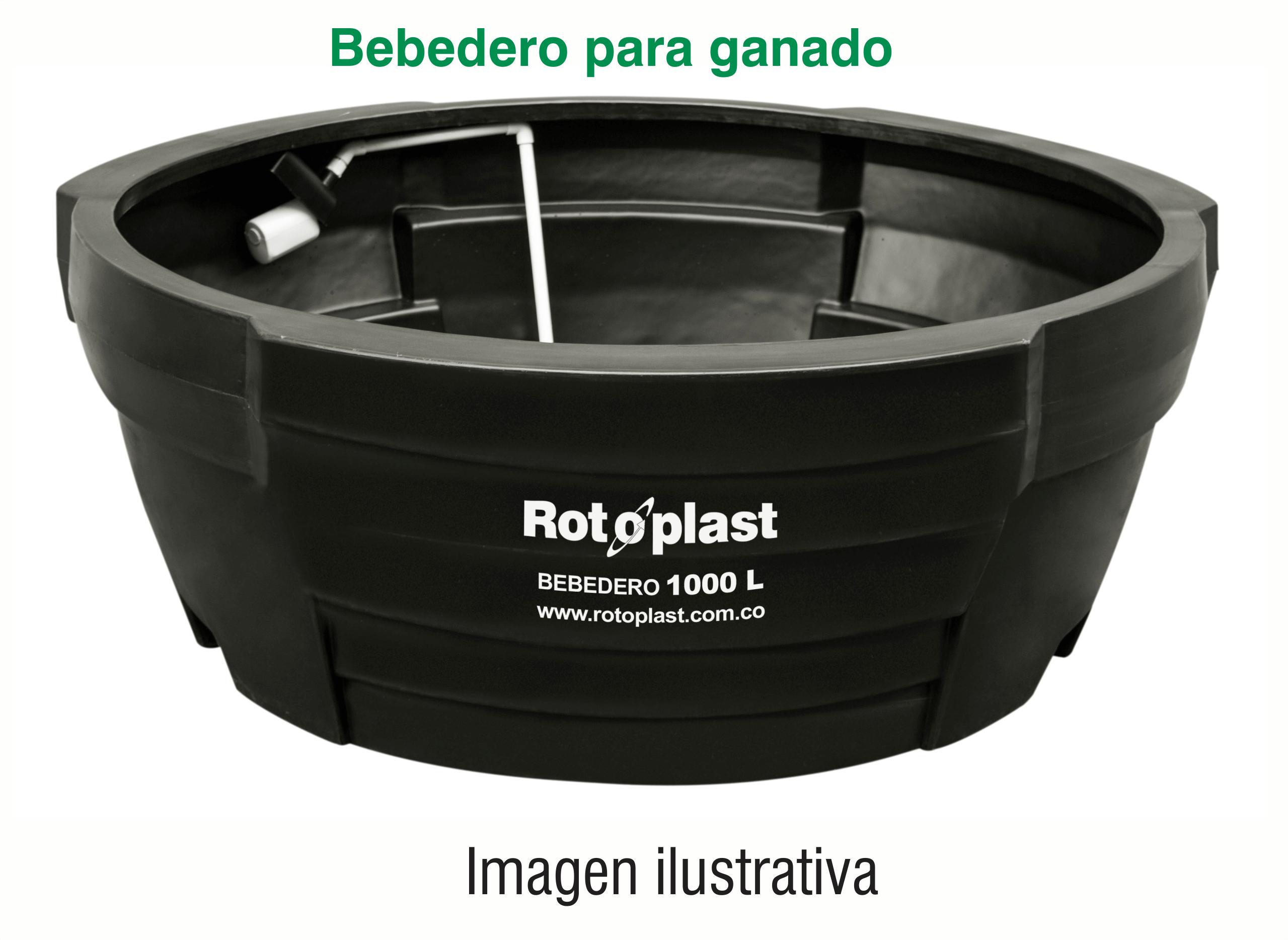 Bebedero para ganado rotoplast  1000 lt