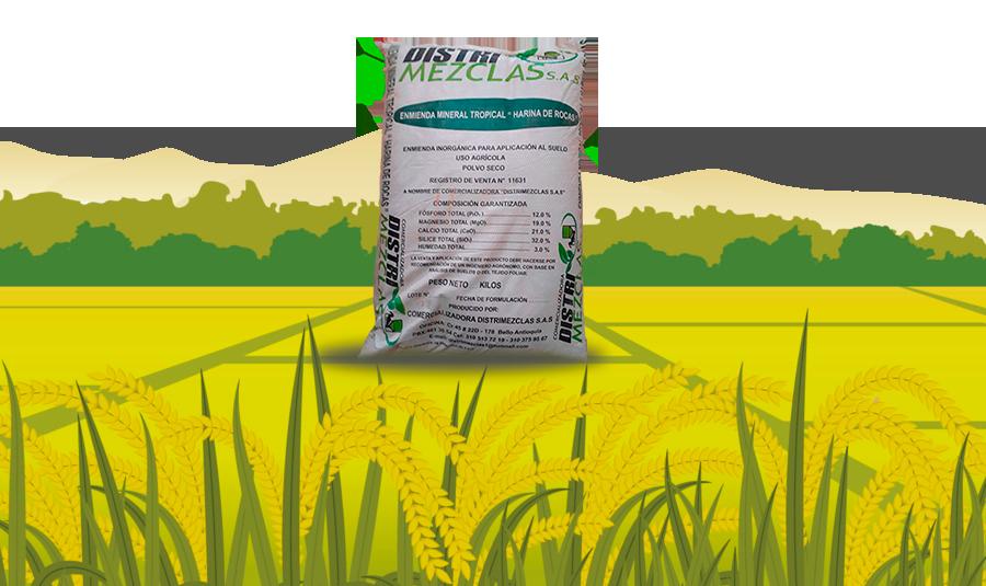 Fertilizante harina de roca distrimezclas