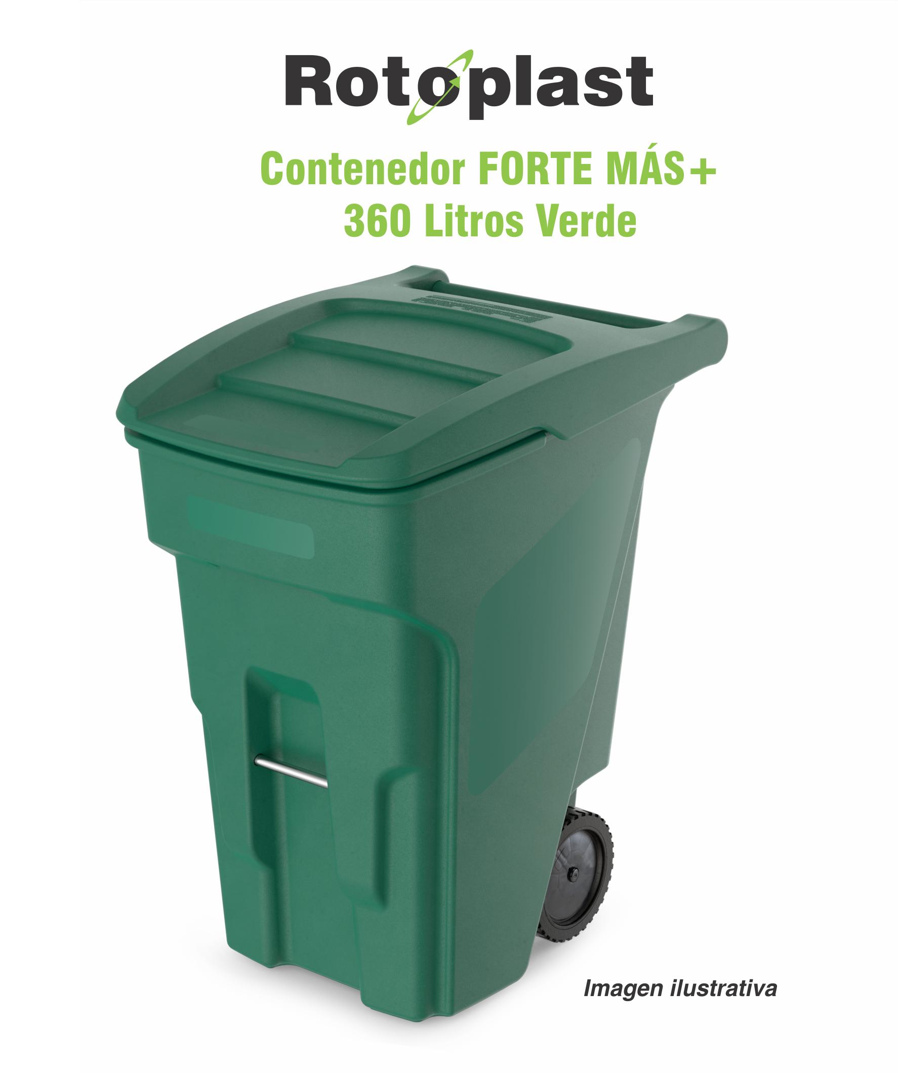 Contenedor 360 litros verde