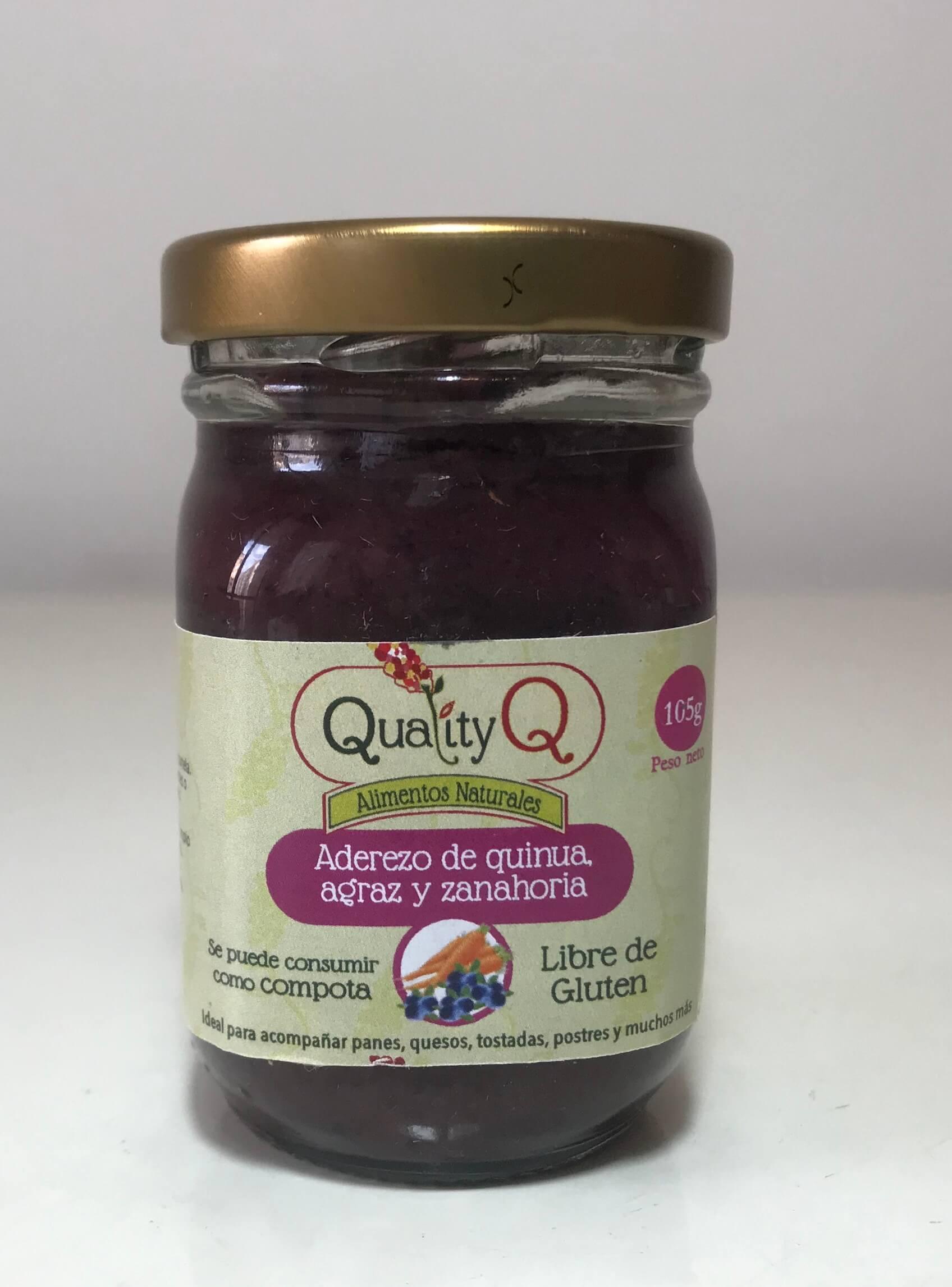 Aderezo de quinua  agraz y zanahoria 105 gr
