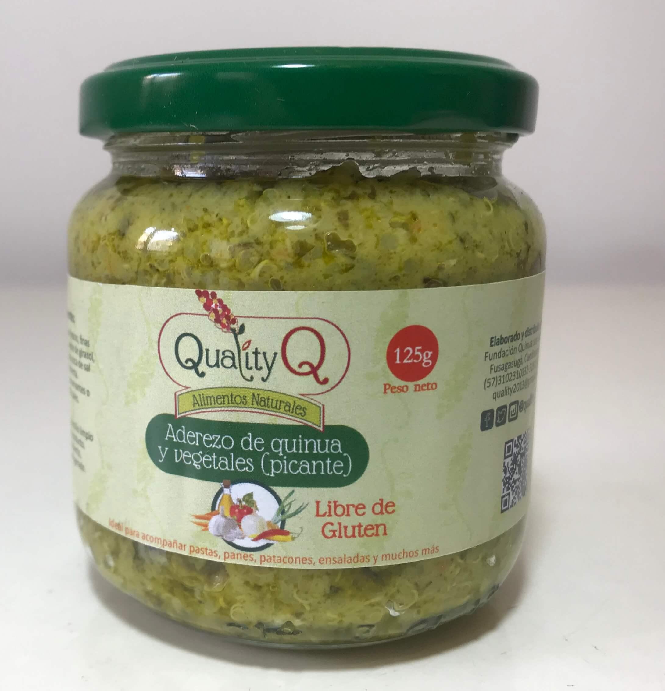 Aderezo de quinua y vegetales picante 125 gr