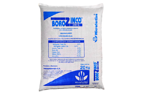 Fertilizante borozinco 240 microfertisa