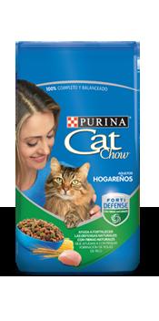 Cat chow hogarenos