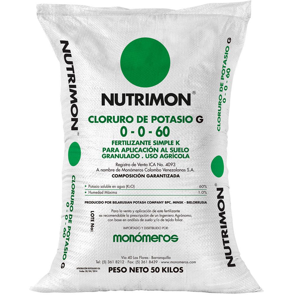 Cloruro de potasio nutrimon