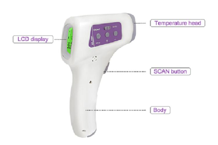 1.termometro digital infrarojo hanwei