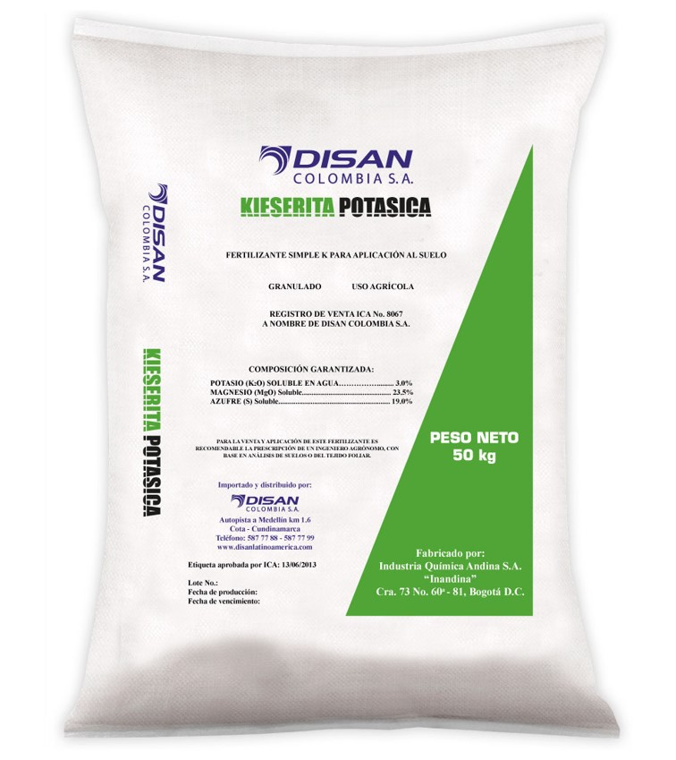 Fertilizante sulfato de potasio estandar disan