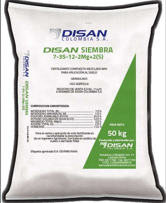 Fertilizante granulado disan siembra 7 35 12 2