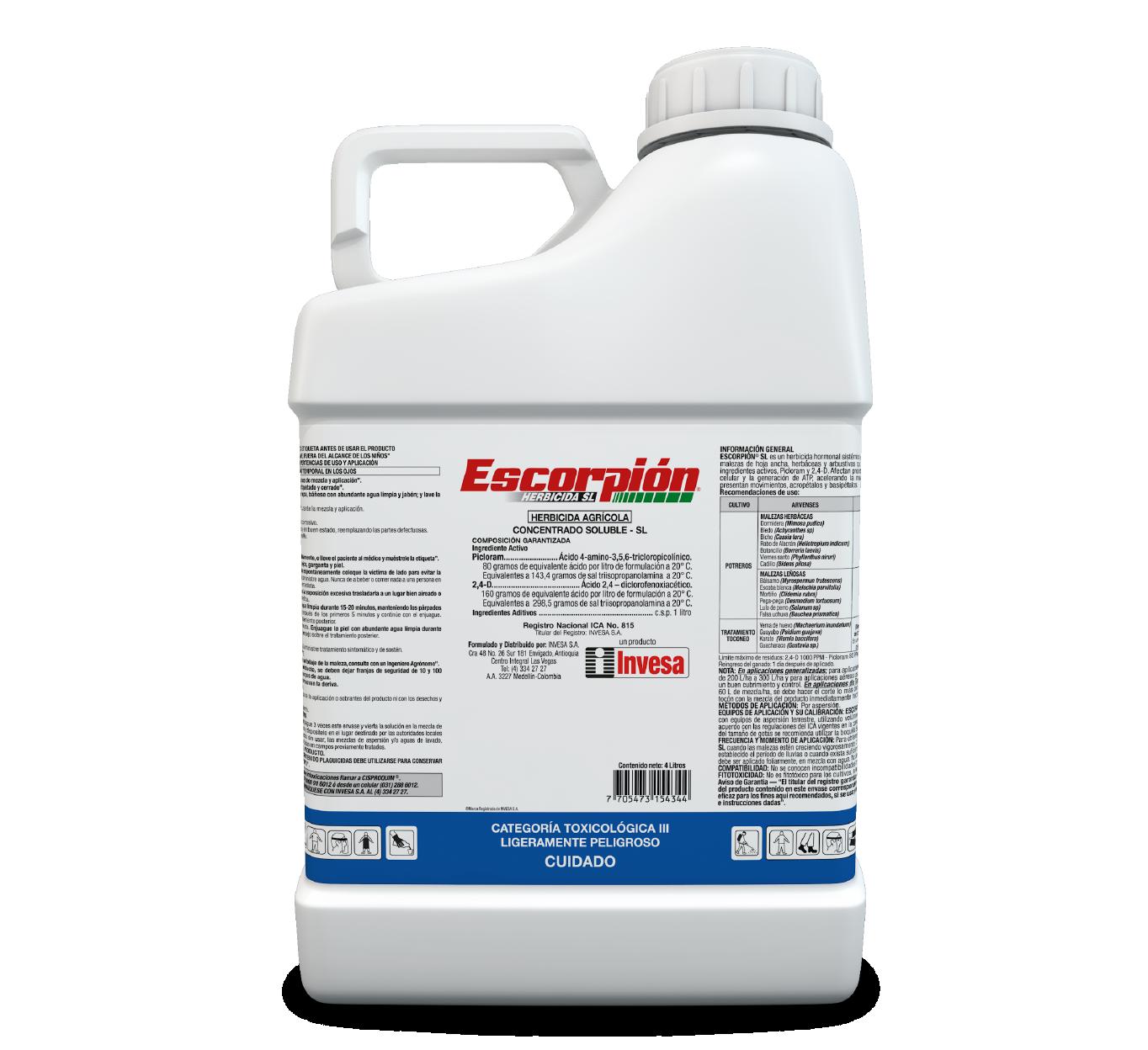 Herbicida escorpion invesa 4 litros