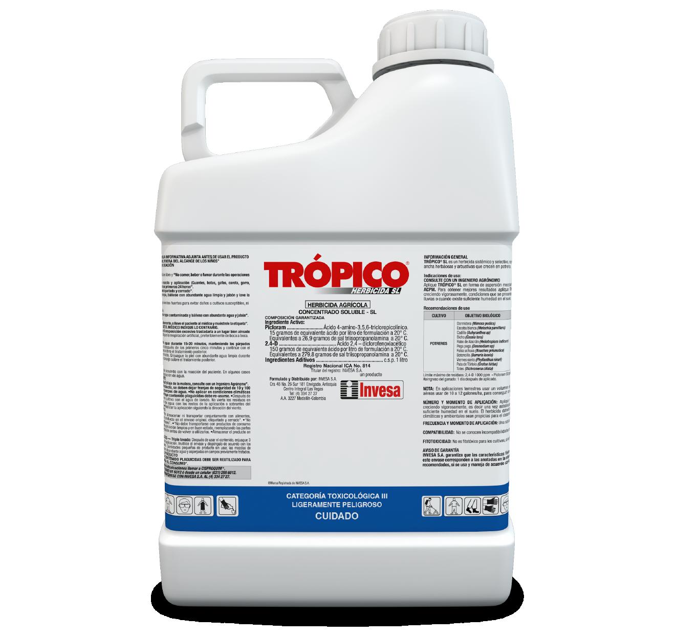 Herbicida tr%c3%b3pico sl invesa 4 litro