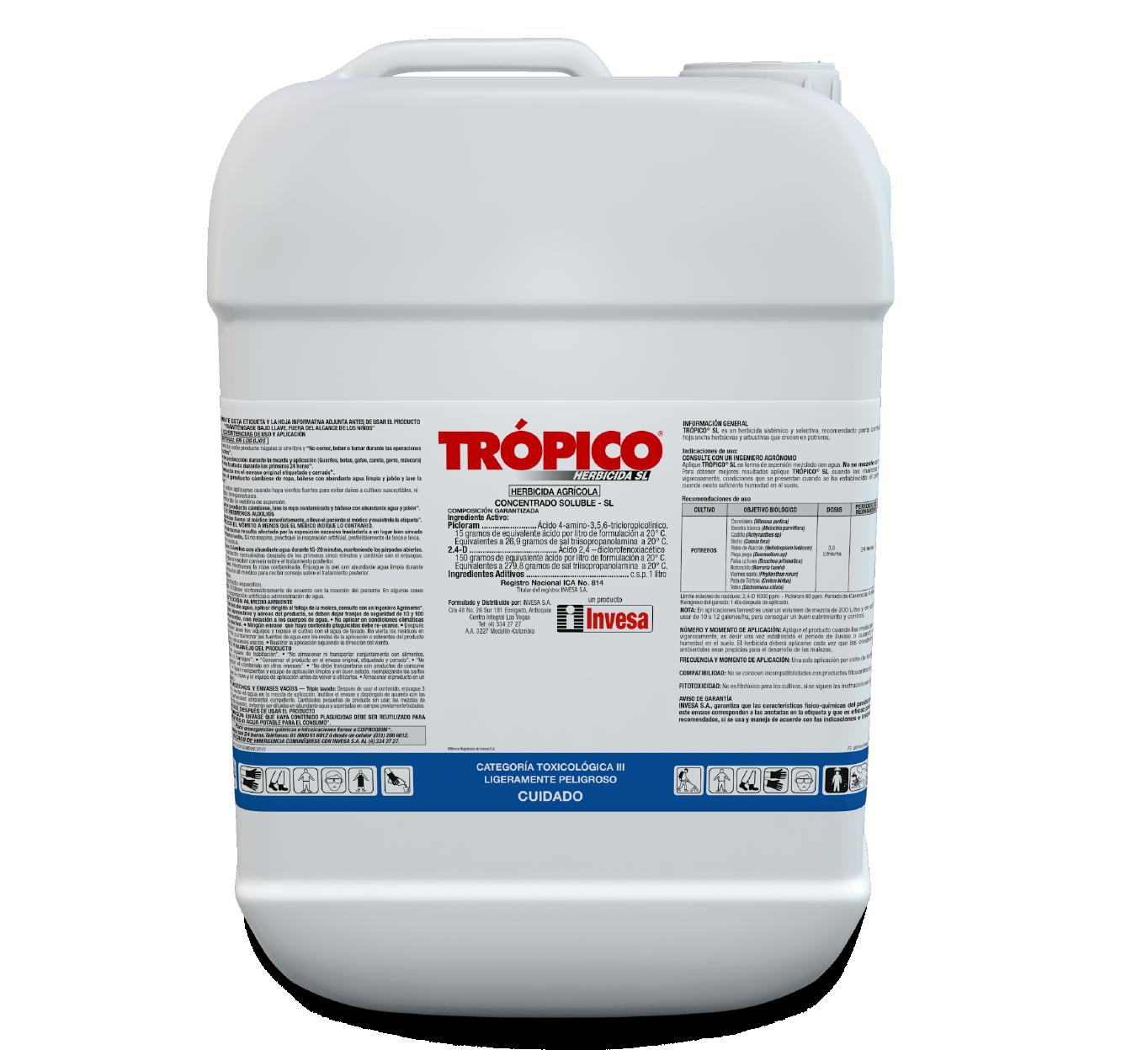Herbicida tr%c3%b3pico sl invesa 20 litros