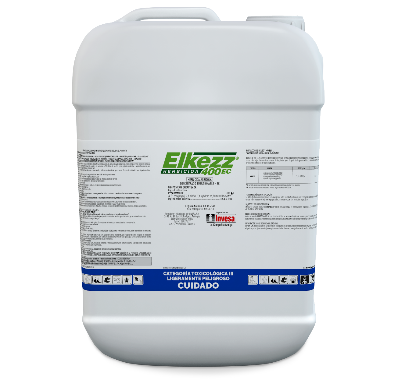 Herbicida elkezz 400 ec invesa 20 litros