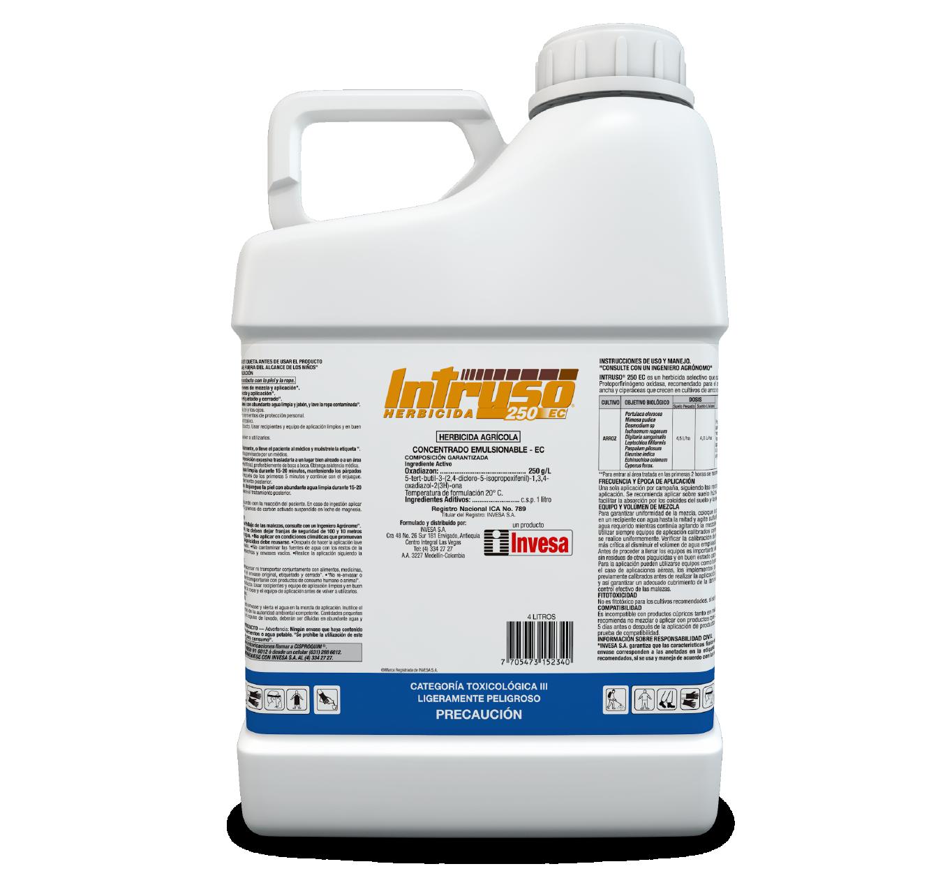 Herbicida intruso 250 ec invesa 4 litros
