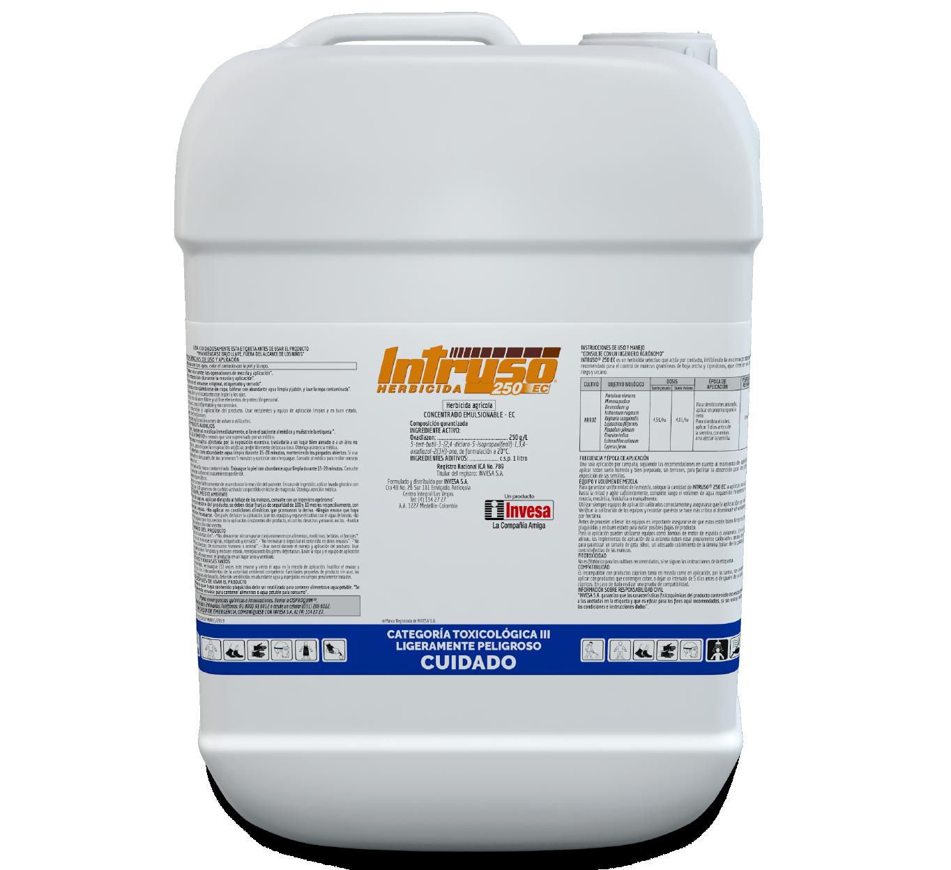 Herbicida intruso 250 ec invesa 20 litros