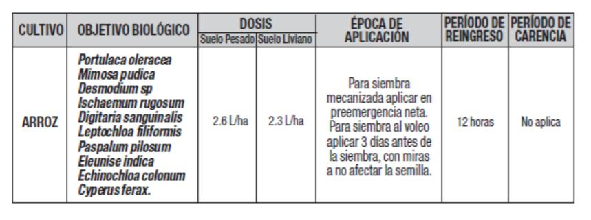 Aplicaciones y usos herbicida intruso 380 ec invesa