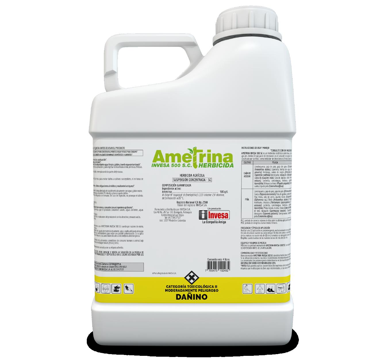Herbicida ametrina 500 sc invesa 4 litros