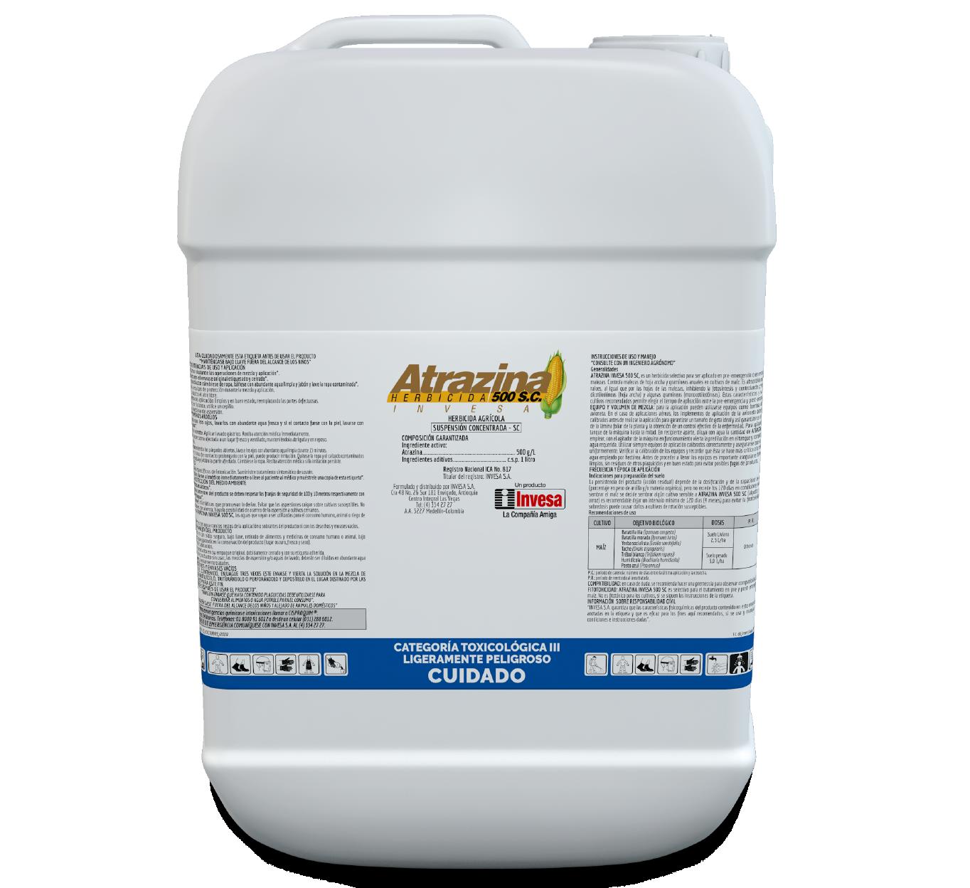 Herbicida atrazina 500 sc  invesa 20 litros
