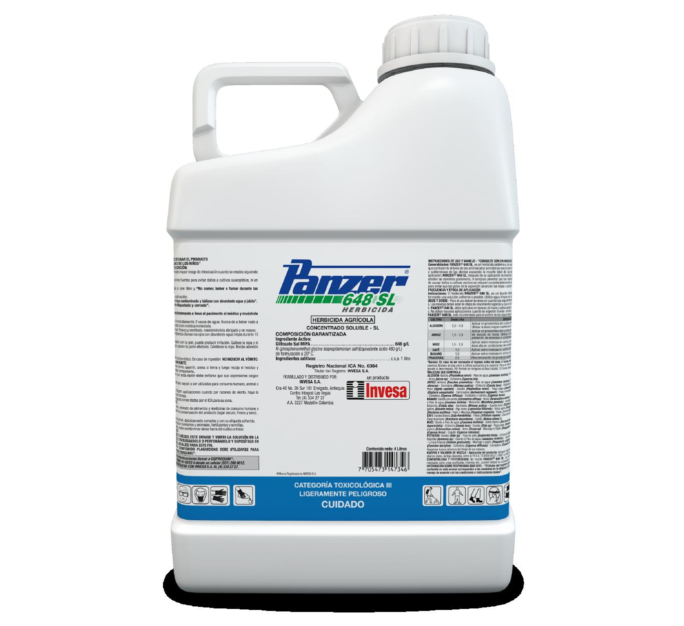 Herbicida panzer 648 invesa 4 litros