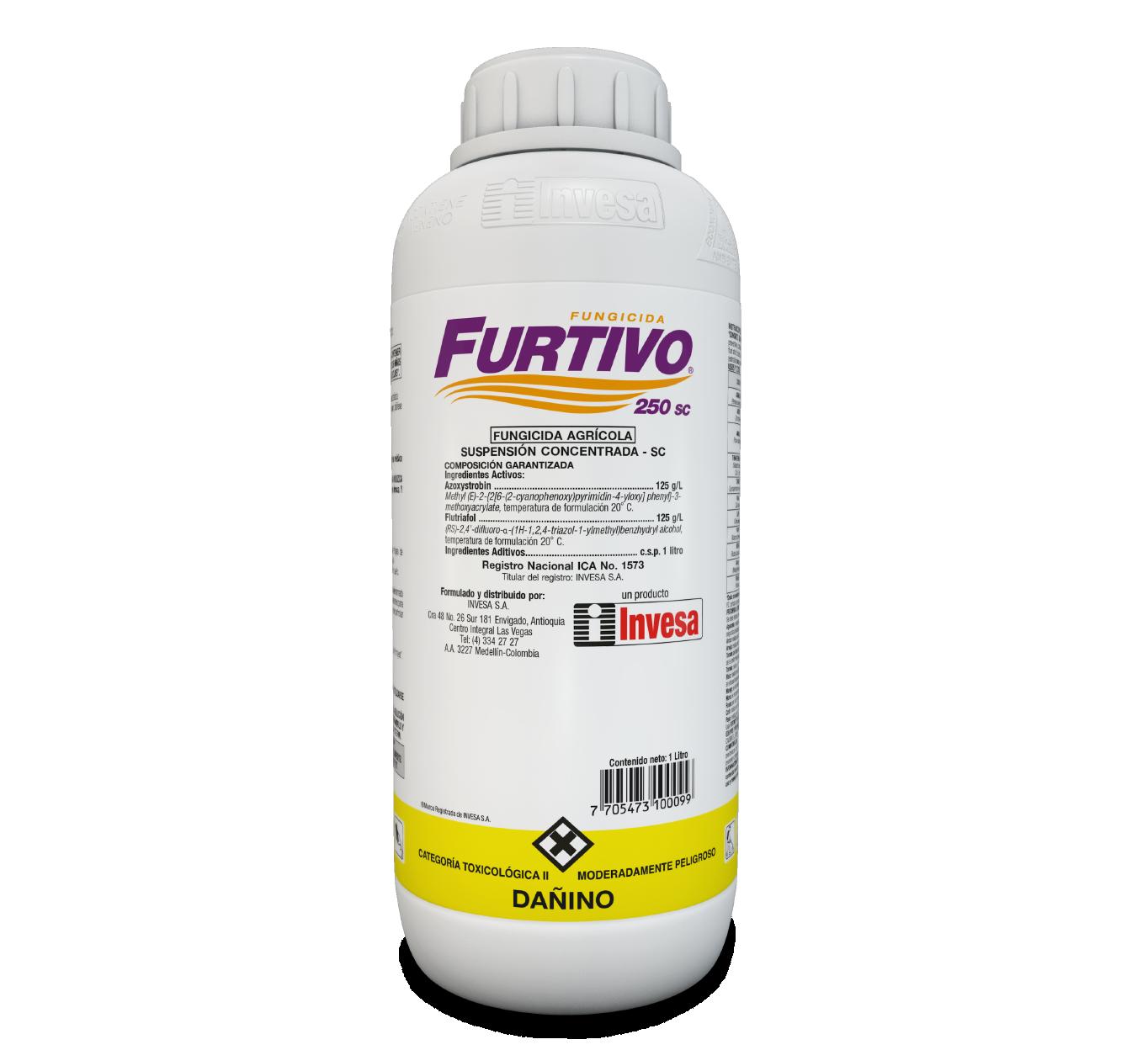 Fungicida furtivo 250 sc invesa 1 litros