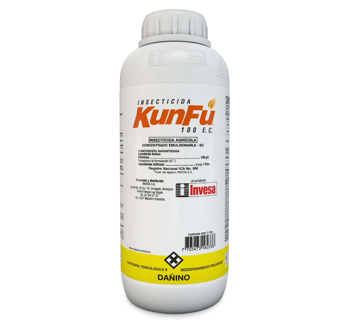 Insecticida kunfu 100 sc invesa 1 litro