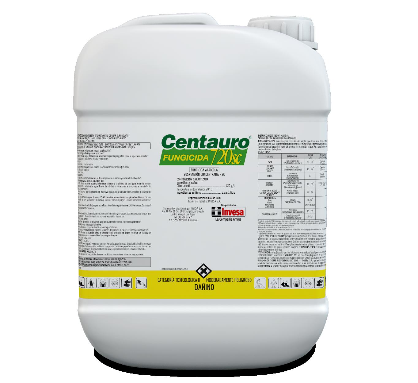 Fungicida centauro 720 sc invesa 10 litros