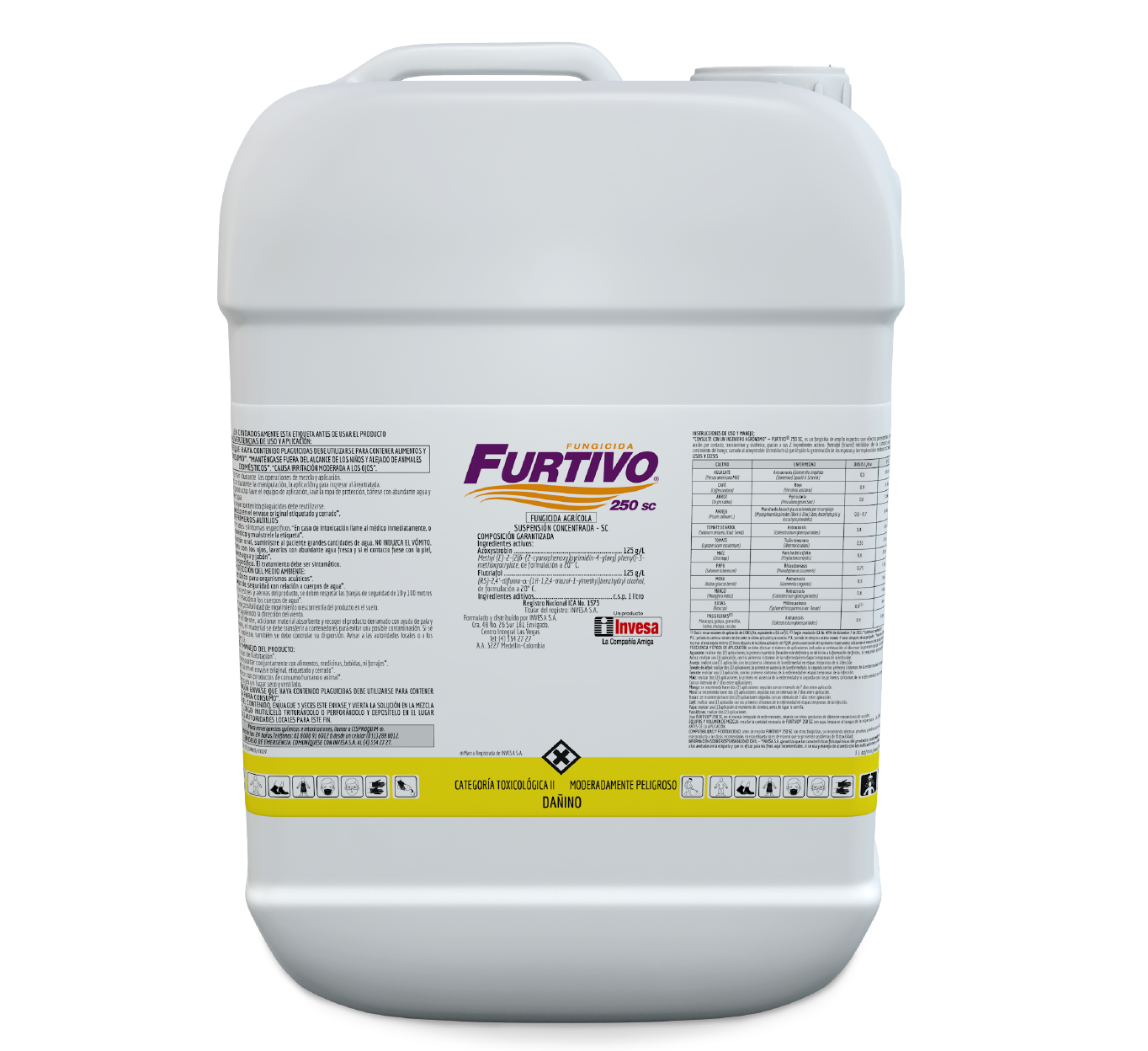 Fungicida furtivo 250 sc invesa 20 litros