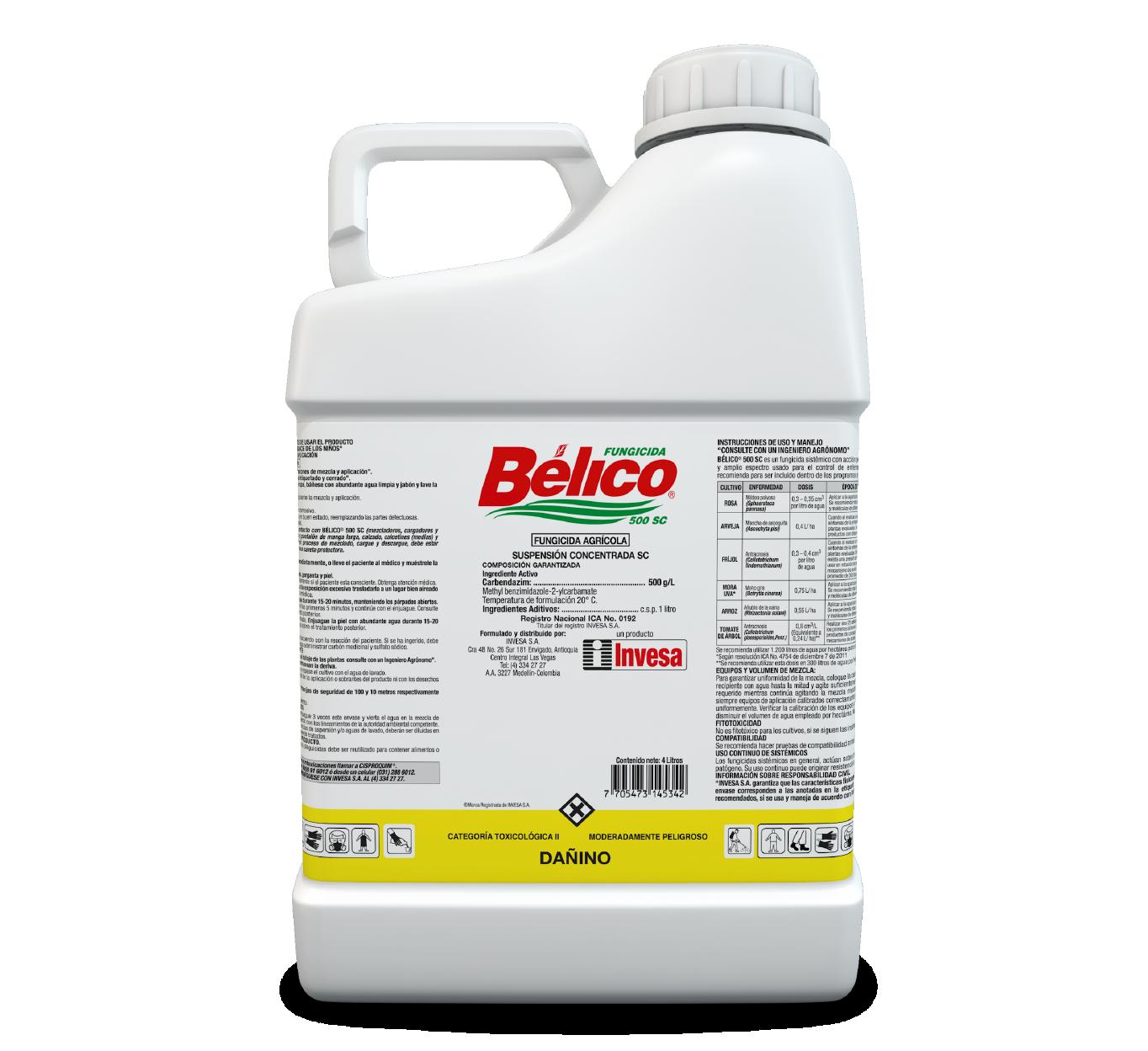 Fungicida belico 500 sc invesa 4 litros
