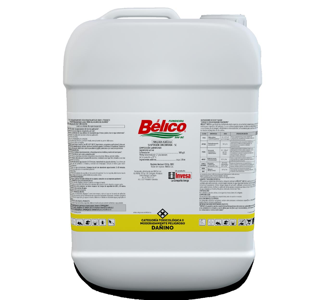 Fungicida belico 500 sc invesa 20 litros