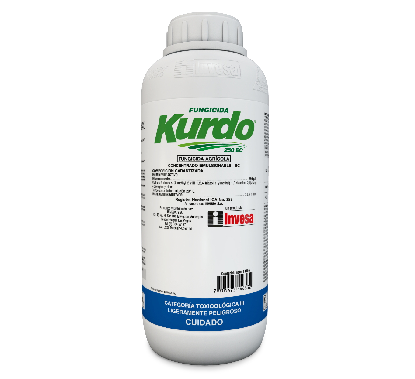 Fungicida kurdo 250 ec invesa 1 litro