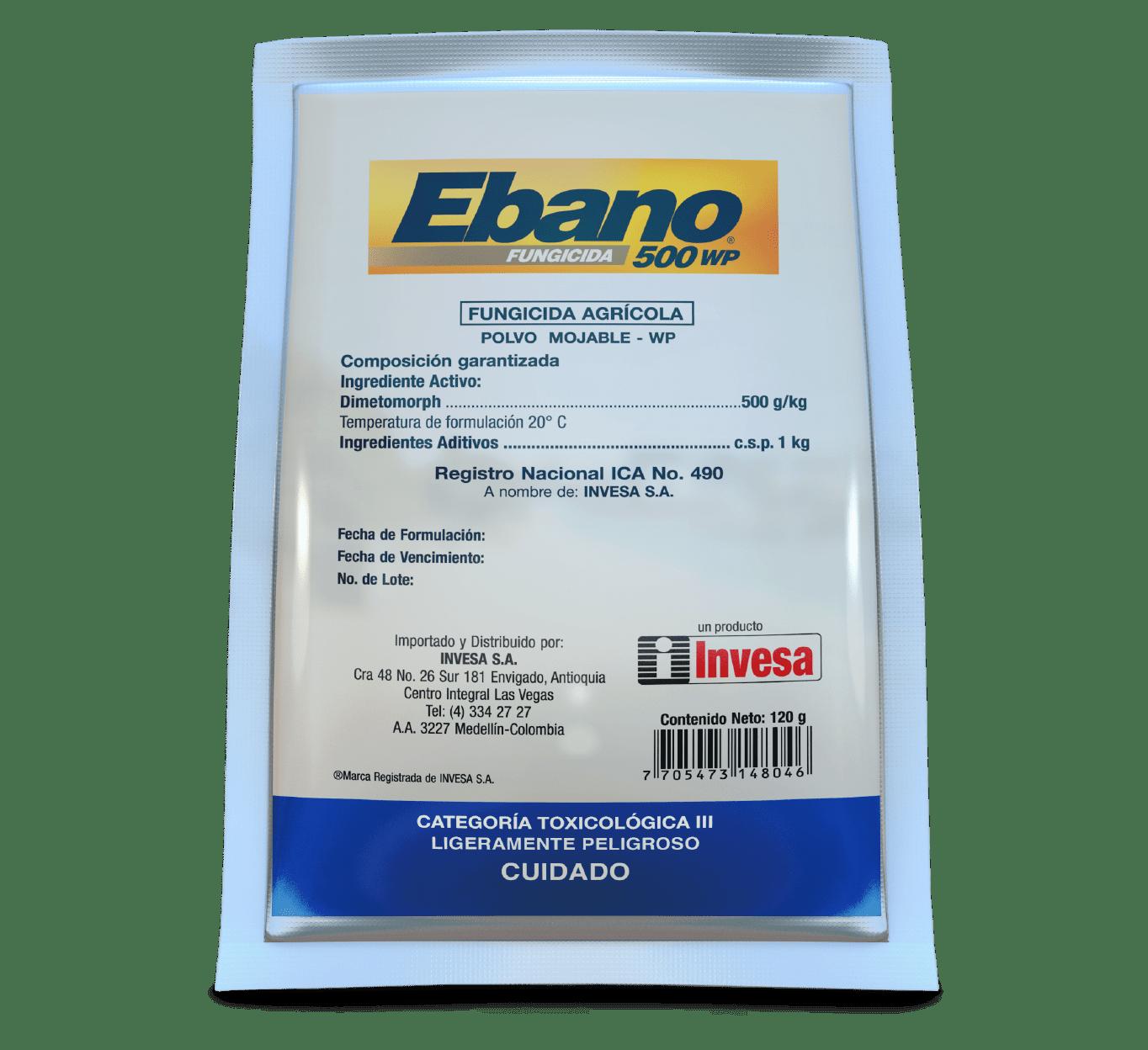 Fungicida ebano 500 wp invesa 120 gr