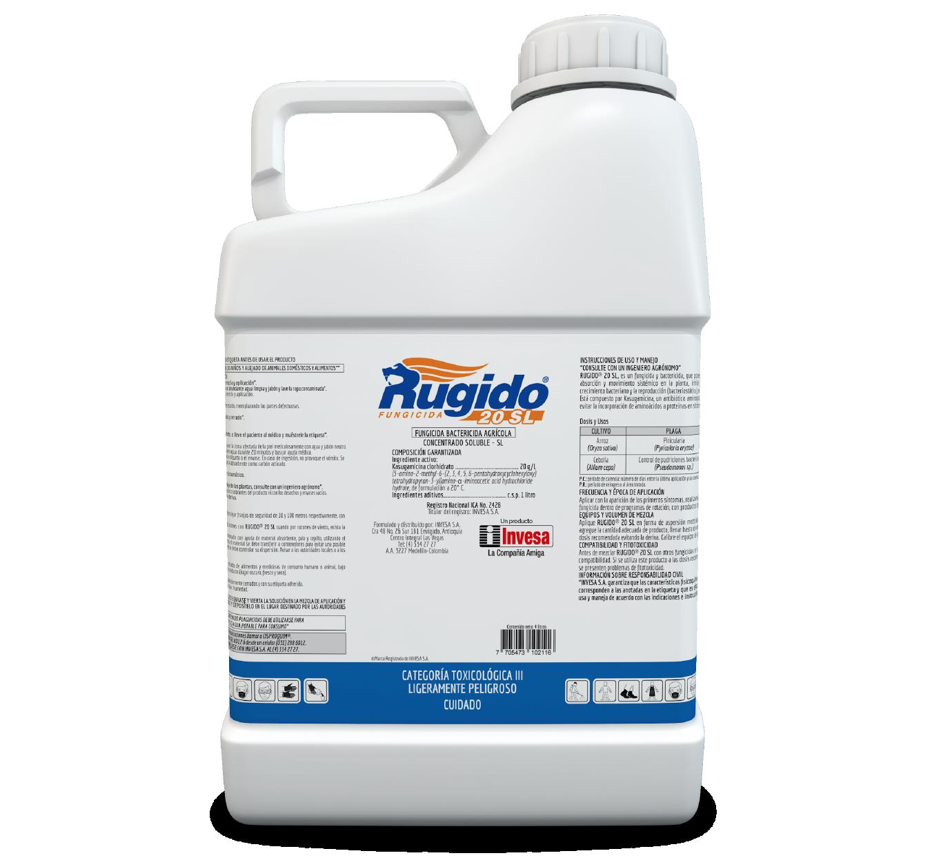 Fungicida rugido 20 sl 4 litros invesa