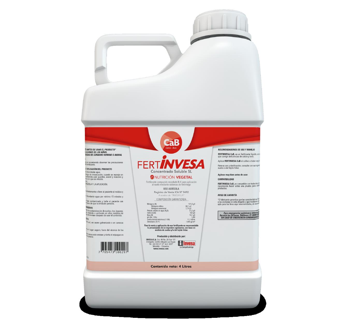 Fertilizante fertinvesa cab invesa 4 litros