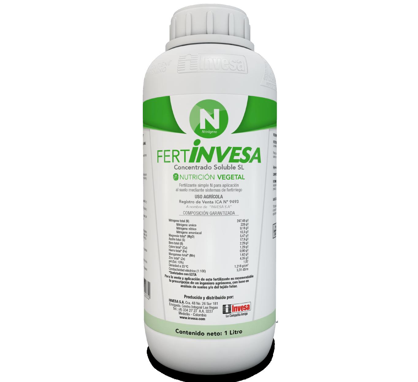 Fertilizante fertinvesa n invesa 1 litro