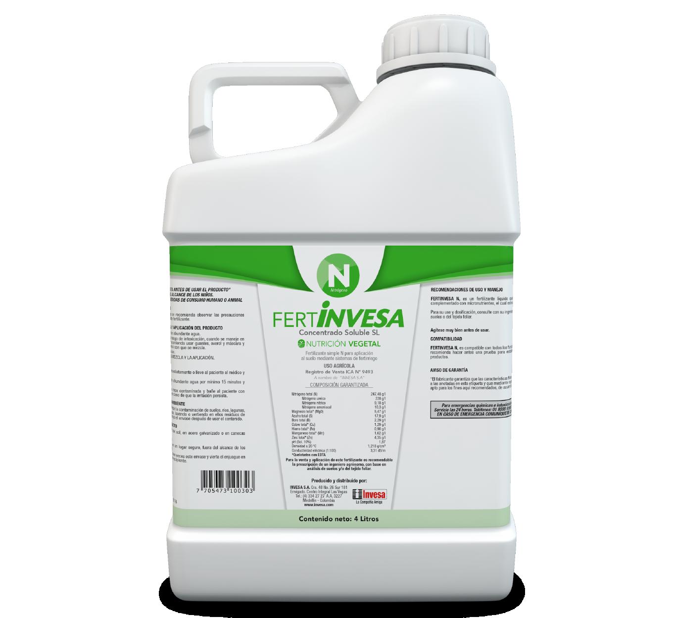 Fertilizante fertinvesa n invesa 4 litros
