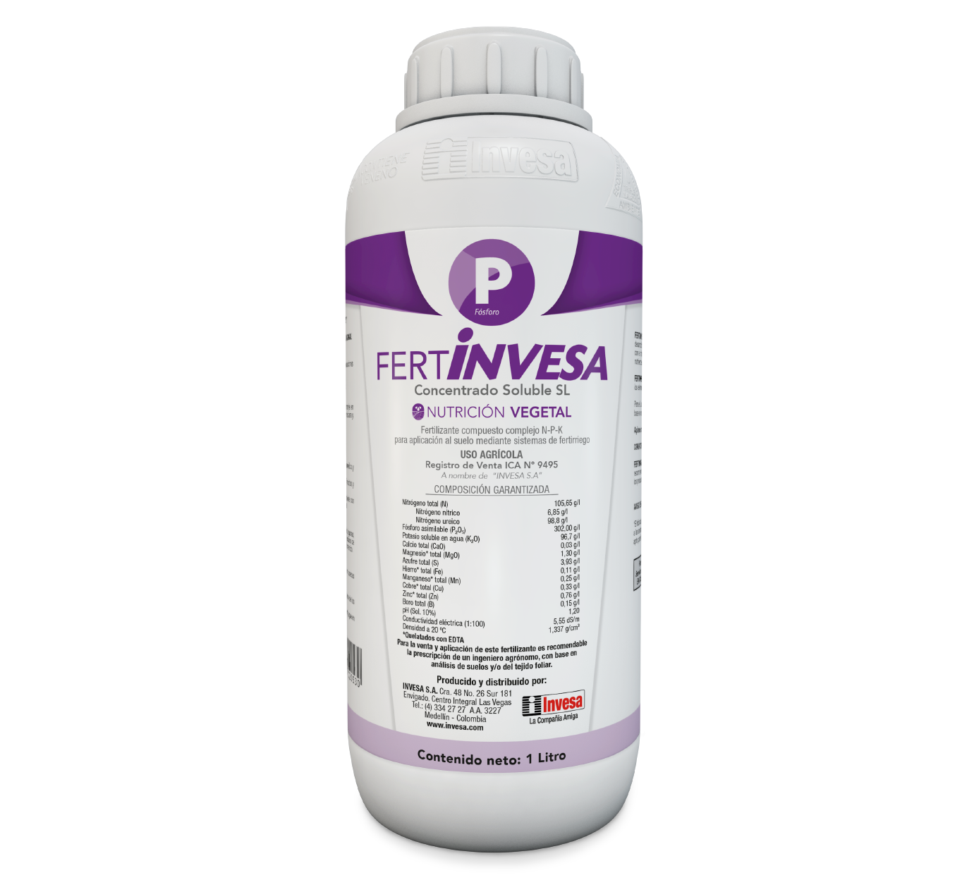 Fertilizante fertinvesa p invesa 1 litro