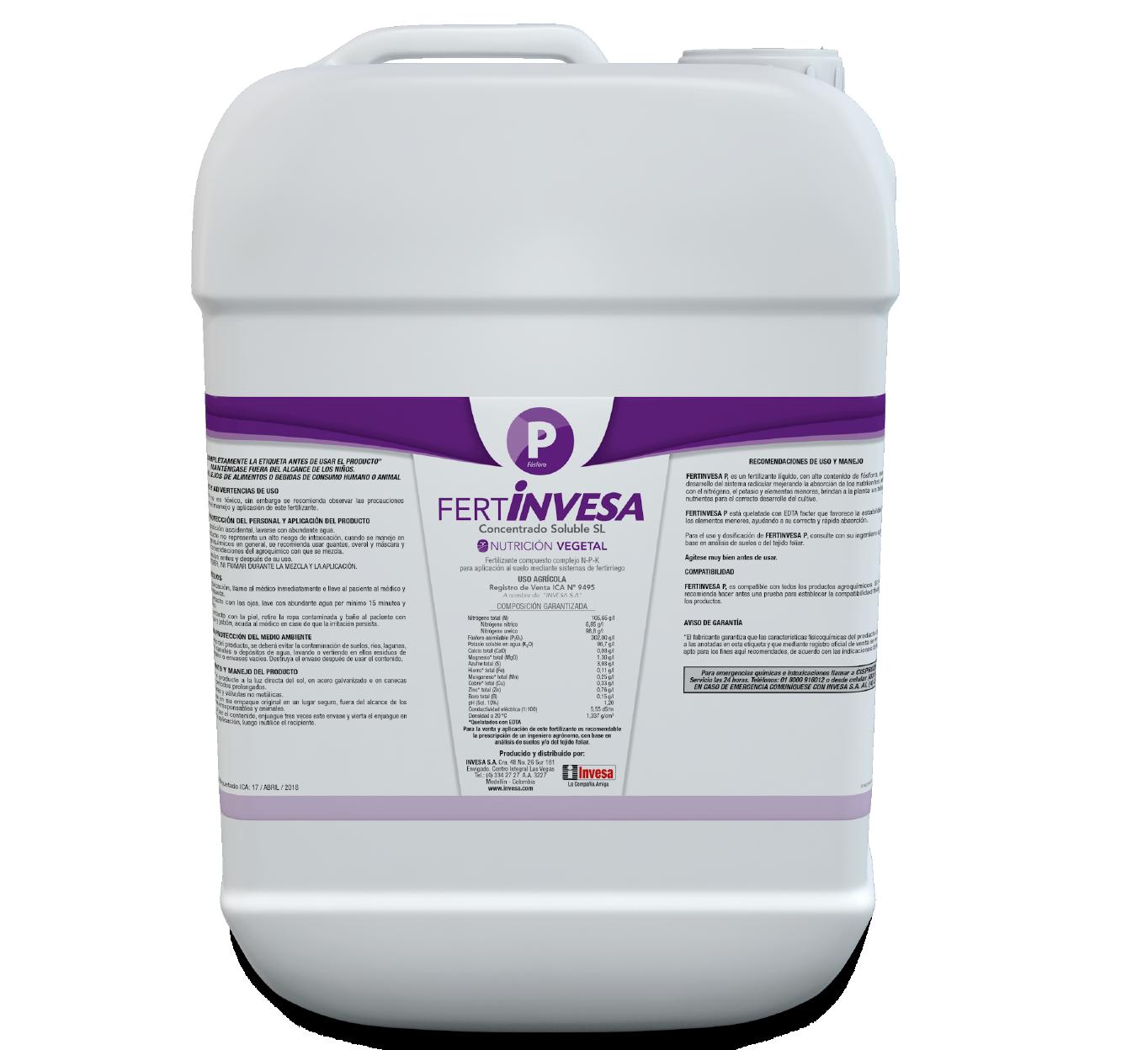Fertilizante fertinvesa p invesa 20 litros