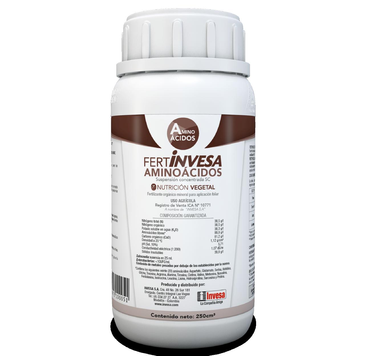 Fertilizante fertinvesa amino acido invesa 250 cc
