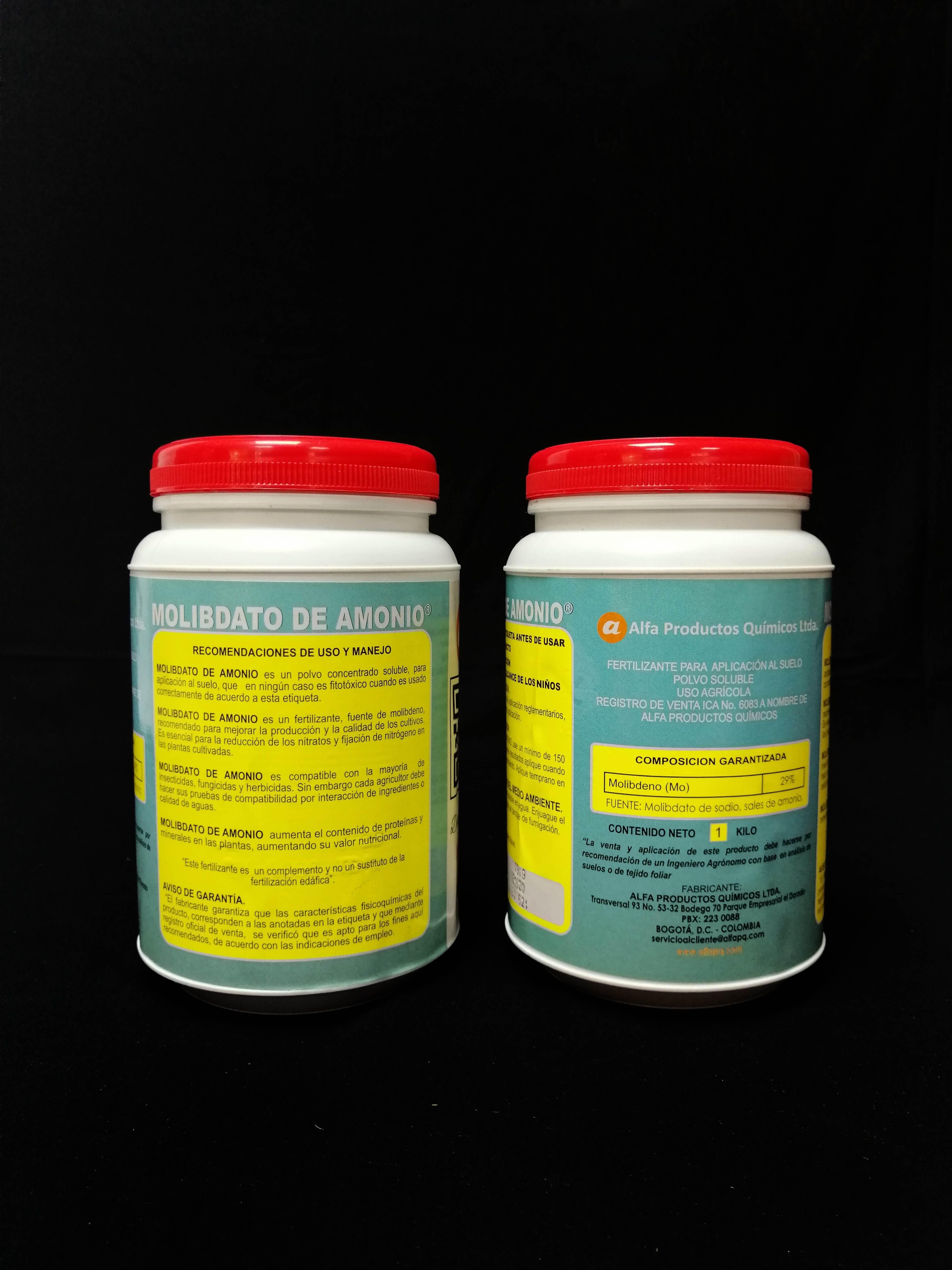 Molibdato de amonio 29  alfa pq