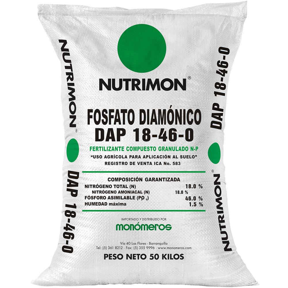 Fertilizante fosfato diamonico nutrimon dap 50 kg