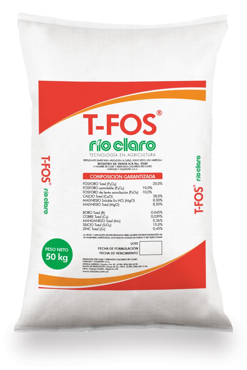 Fertilizante simple t fos rio claro bulto 50 kg