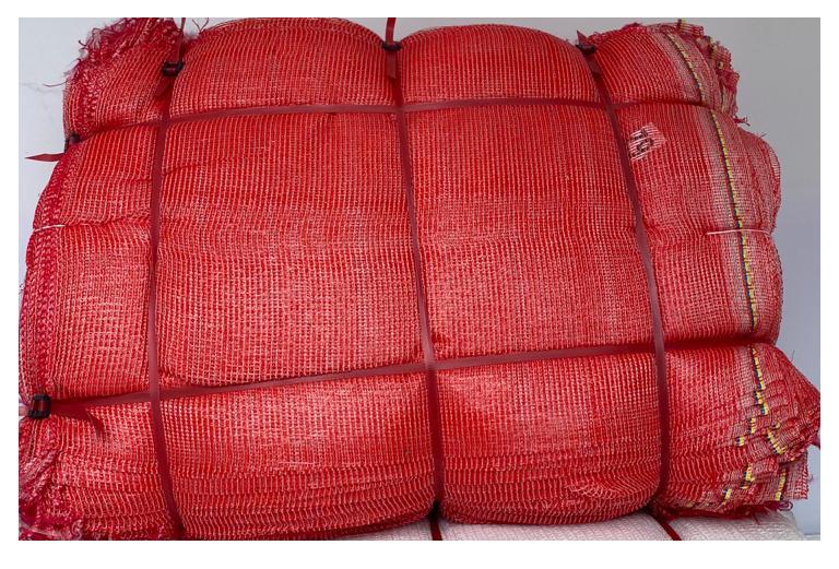 8. gasa de vuelta rojo 4  con cinta polyagro